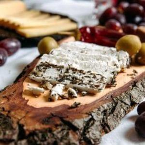 Schaf Ziegen Kräuter Käse Produktbild